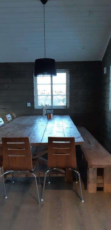 big kitchen table upstairs
